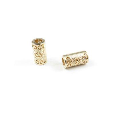 snörände metall 15x8 5mm guld