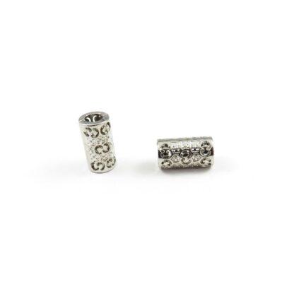 snörände metall 15x8 5mm silver