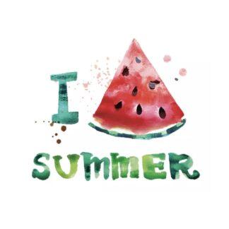 vinyltryck L I Love Summer watermelon 23x19