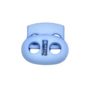 Snörlås dubbelt platt ljusblå