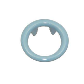 tryckknapp 11 ring ljusblå